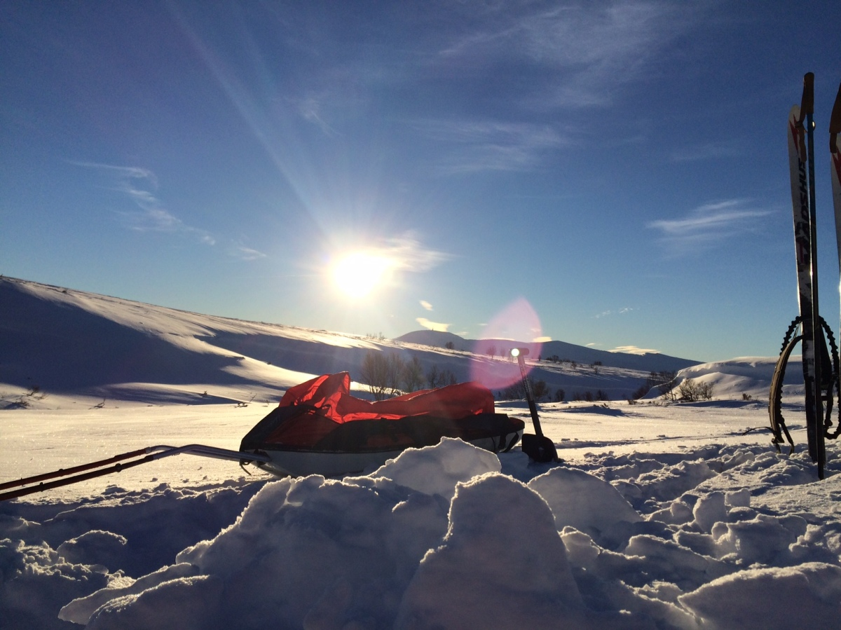 Skitur i minus 17 grader